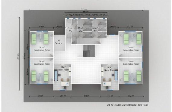 Модульдік Аурухана 576 м²