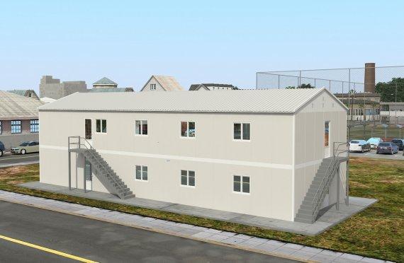 Құрастырмалы Коммерциялық Асхана 332 м²