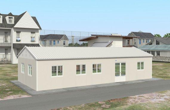 Құрастырмалы Коммерциялық Асхана 98 м²