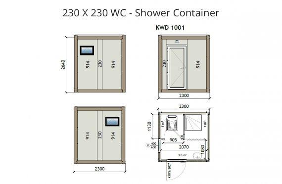 KW2 230X230  Дарехана - Душ  Контейнер