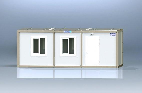 K2005: 1комн+душ+туалет, Упакованный Контейнер 2,3х6 м