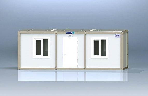 K3005: 2комн+душ+туалет, Упакованный Контейнер - 2,3х7 м