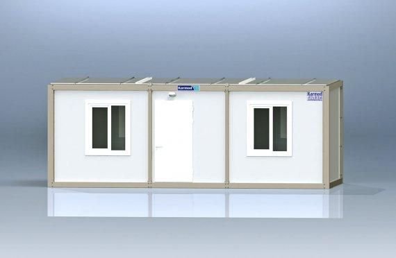K7001: 2к+душ+туалет+мойка, Упакованный Контейнер, 2,3х6 м