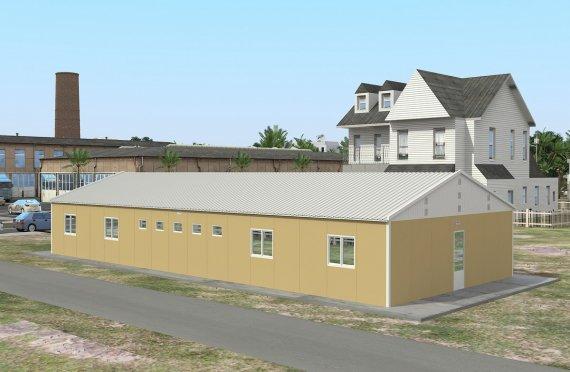 193 м² Общежитие быстровозводимое