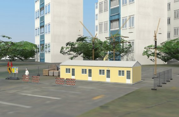 79 м² Общежитие быстровозводимое