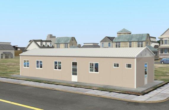 86 м² Общежитие быстровозводимое