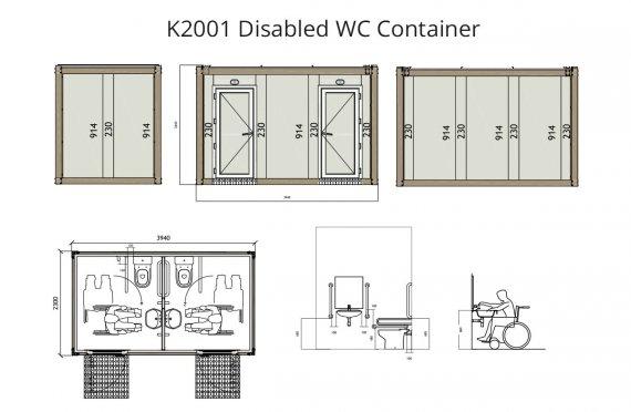 Инвалидный санитарный контейнер KW 2001