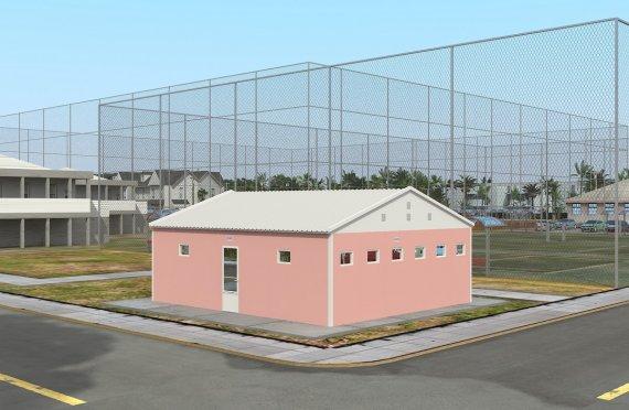 70 м² Туалеты и душевые быстровозводимые