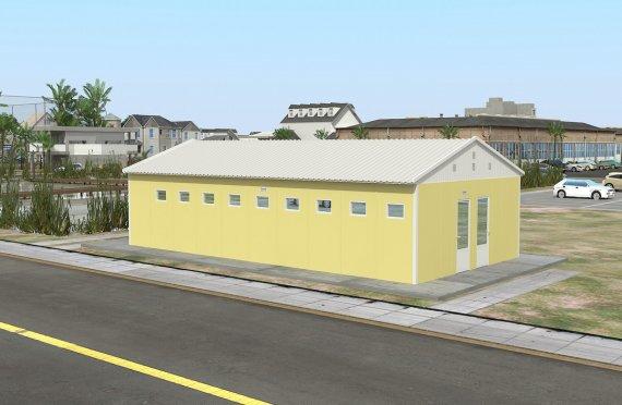 82 м² Санитарный модульный комплекс