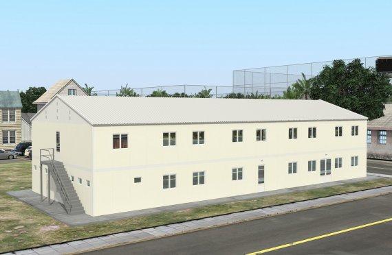 662 м² Общежитие быстровозводимое