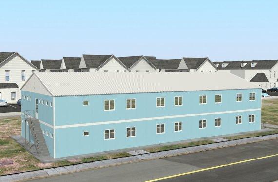 736 м² Общежитие быстровозводимое